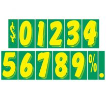 """7.5""""  Stickers - Green/Yellow"""